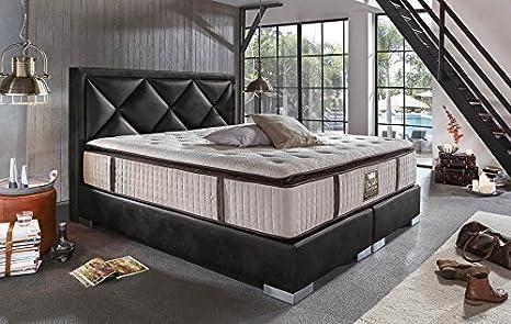Cama BARON cama completa Piel Artificial 180 x 200/200 x 200 cm Cama De Lujo CAMA DE HOTEL Americano: Amazon.es: Hogar