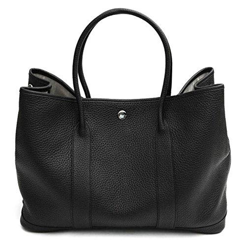 Bag Lux Black (LUX GARDEN TOTE BAG (36cm) BLACK Genuine Leather Premium Togo Calfskin Womens Korean Handbag)