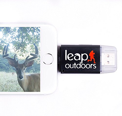 Leap Outdoors Trail or Game Camera Viewer SD Card Reader for Apple iPhone or iPad | Works with Cases | Reads SD, SDHC, and Micro SD Cards (Device Only) by Leap Outdoors (Image #6)