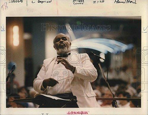 1991 Press Photo James DePreist Conducts Oregon Symphony At Lloyd - Center Lloyd Oregon