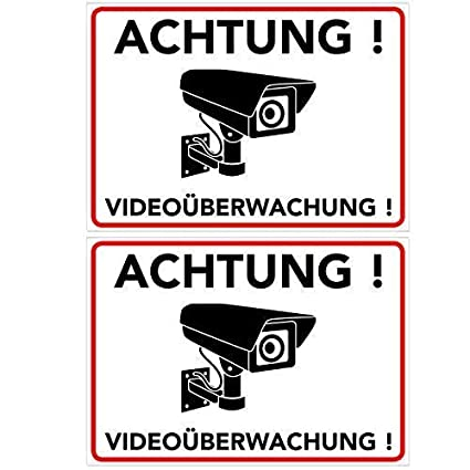 Advertencia Videovigilancia – cartel – Pantalla – pegatinas (Cámara Supervisión – Vigilancia – Alarma –