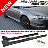 body kit mitsubishi lancer - Compatible with Mitsubishi Lancer 08 09 10 11 12 13 14 15 16 17 Replacement for Side Skirts Body Kit w/Hardware Unpainted Black L+R 2008 2009 2010 2011 2012 2013 2014 2015 2016 2017 Brand]: EAX