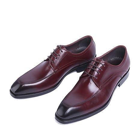 Zapatos Caballero Hombres Lace Up Cuero Real Brogues Traje ...