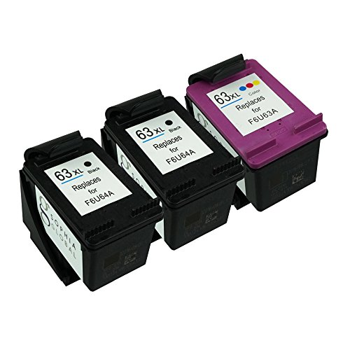 Sophia Global Remanufactured Ink Cartridge Replacement for HP 63XL (2 Black, 1 Color)