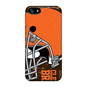 Iphone 5/5s CrW9317QxMr Provide Private Custom High Resolution Cleveland Browns Pattern Bumper Phone Cases -TanyaCulver