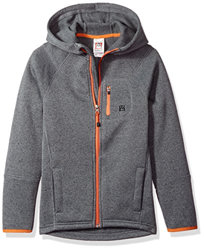 Avalanche Big Boys' Hooded Full Zip Jacket, Brighton Charcoal, (Fleece Boys Zip Hooded Jacket)
