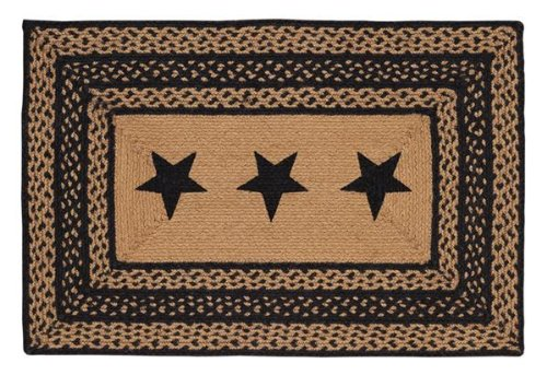 VHC Brands Farmhouse Stencil Stars Braided Area Rug