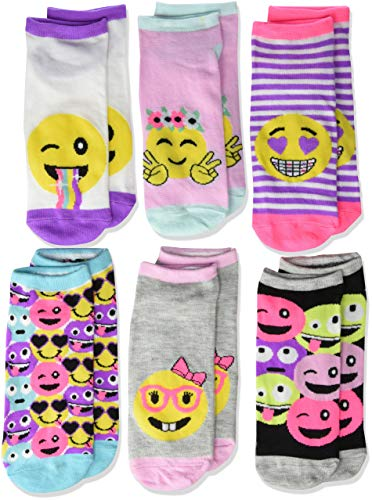- The Children's Place Big Girls' 6 Pack Novelty Printed Ankle Socks, Multi CLR, M 1-2