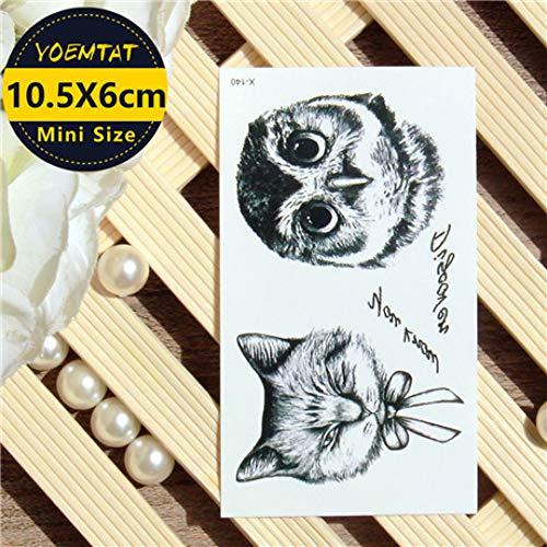 LVGU Temporary Tattoo 30pcs differernt 10.56Cm Waterproof Temporary Tattoos Stickers Elephant Yoga Symbol Tattoo ()