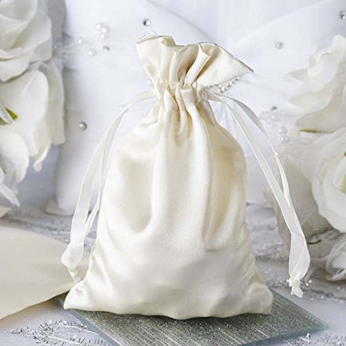 Ivory Satin Bags - 7