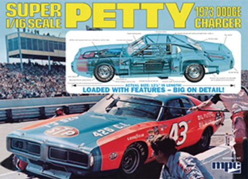 Richard Petty Nascar Charger 1/16 MPC - Richard Petty Nascar