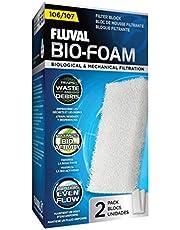Fluval 106/107 Bio-Foam, Replacement Aquarium Filter Media, 2-Pack, A220
