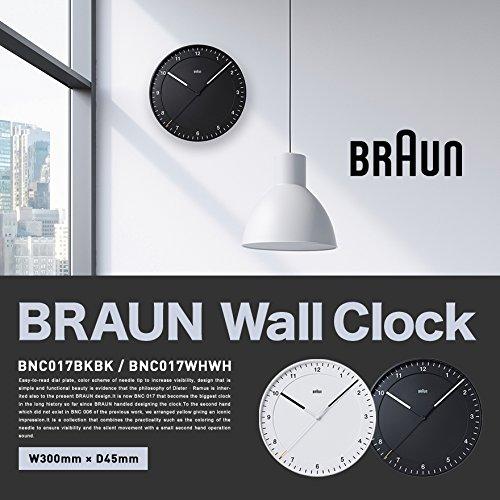 【BRAUN ブラウン】Wall Clock BNC017BKBK 壁掛け時計 ウォールクロック (ブラック) B077NZV4WKブラック