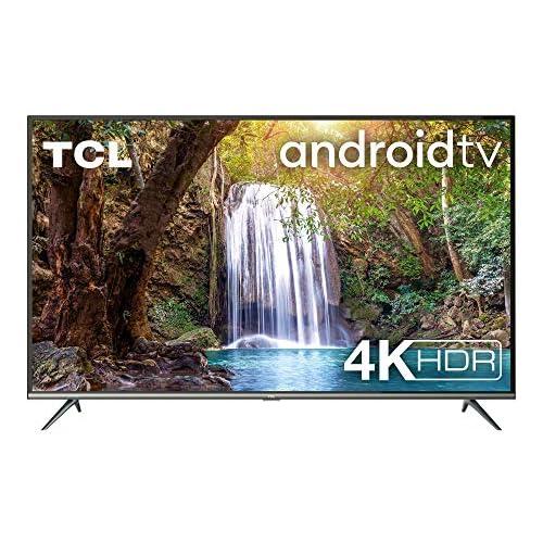 TCL 50EP640 Televisor 126 cm 50 Pulgadas Smart TV con Resolución 4K UHD HDR10 Micro Dimming Pro Android TV Alexa Google Assistant Clase de eficiencia energética A