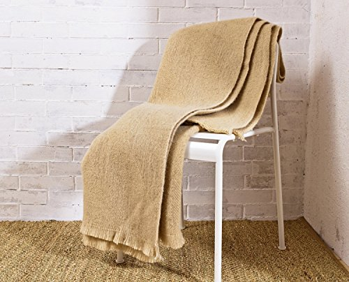 Home of Wool / Heavy Wool Blanket / Sizes Available / 100% Sheep Wool / Non-Toxic Nattural Bedding (Antique Wool Blanket)