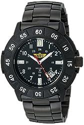 Uzi Men's Uzi-001-M The Protector Tritium H3 Black Metal Strap Watch