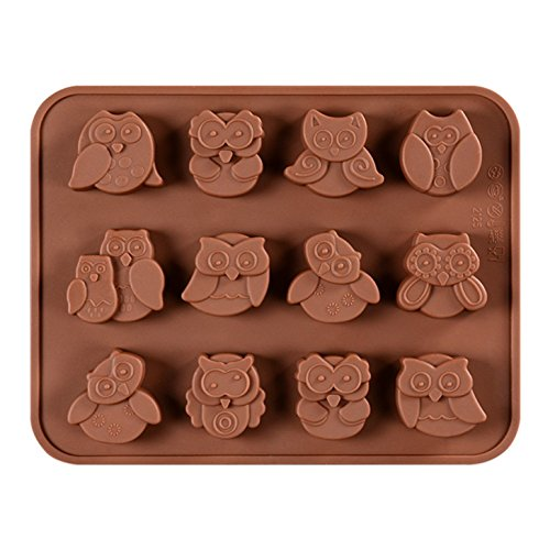 FantasyDay Halloween Night Owl Silicone Baking Molds Bakeware for Halloween Theme Chocolate, Muffin Cups, Ice Cube, Soap, Wafer, Cake, Bread, Tart, Pie, Flan, Pudding, Candy, Jello Shot and More -