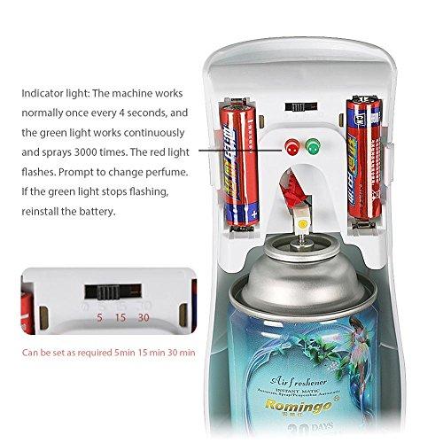 FOONEE Air Freshener Dispenser,Wall-mounted Automatic Spray Machine Perfume Dispenser,Aerosol Fragrance Perfume Refill Cans by FOONEE (Image #1)