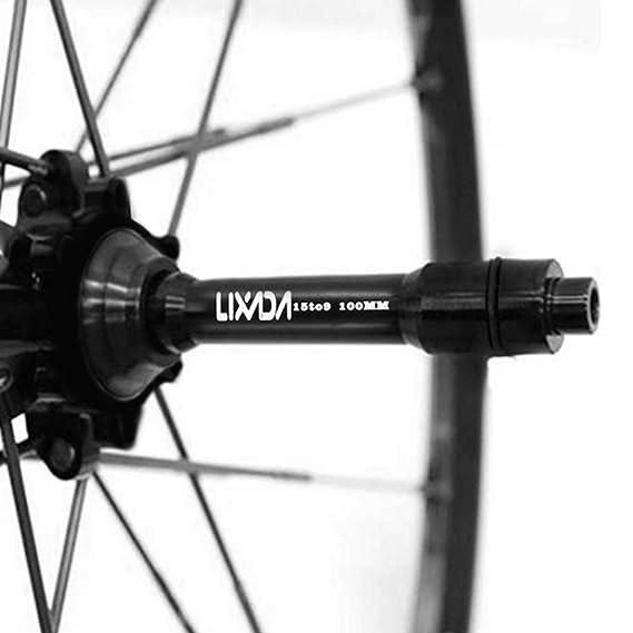 Lixada Eje de Rueda Delantera 15 mm-9 mm Eje Hub Adaptador Buje Liberación Rápida Eje de Conversión Bicicleta Accesorio para MTB Bicicleta: Amazon.es: ...