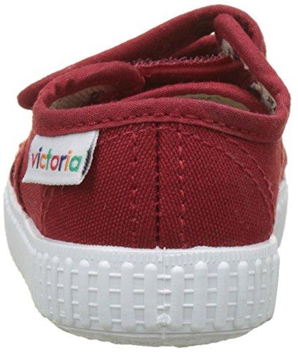 Victoria Basket Lona Dos Velcros, Zapatillas Unisex Niños Rojo (Carmin)