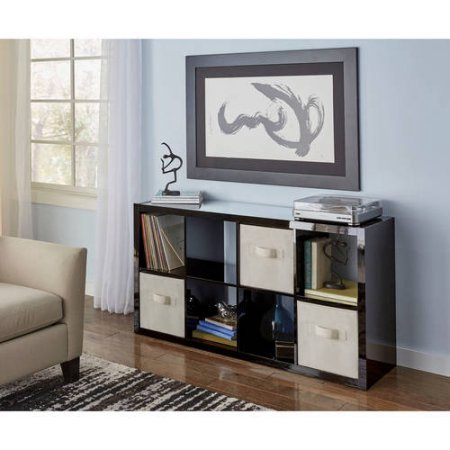Better Homes and Gardens 8-Cube Organizer - High Gloss Black Lacquer from Better Homes & Gardens