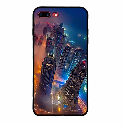 Funda iPhone 7 plus, FUBAODA [Flor rosa] caja del teléfono elegancia contemporánea que la manera 3D de diseño creativo de cuerpo completo protector Diseño Mate TPU cubierta del caucho de silicona suav pic: 25