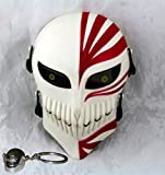 Gmasking Bleach Ichigo Kurosaki Airsoft Wire Mesh Paintball Mask Replica (White-Red)