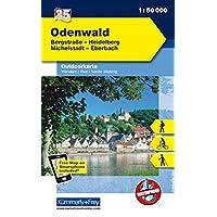 Deutschland Outdoorkarte 35 Odenwald 1 : 35.000: Bergstraße-Heidelberg, Michelstadt-Eberbach. Wanderwege, Radwanderwege, Nordic Walking (Kümmerly+Frey Outdoorkarten Deutschland)