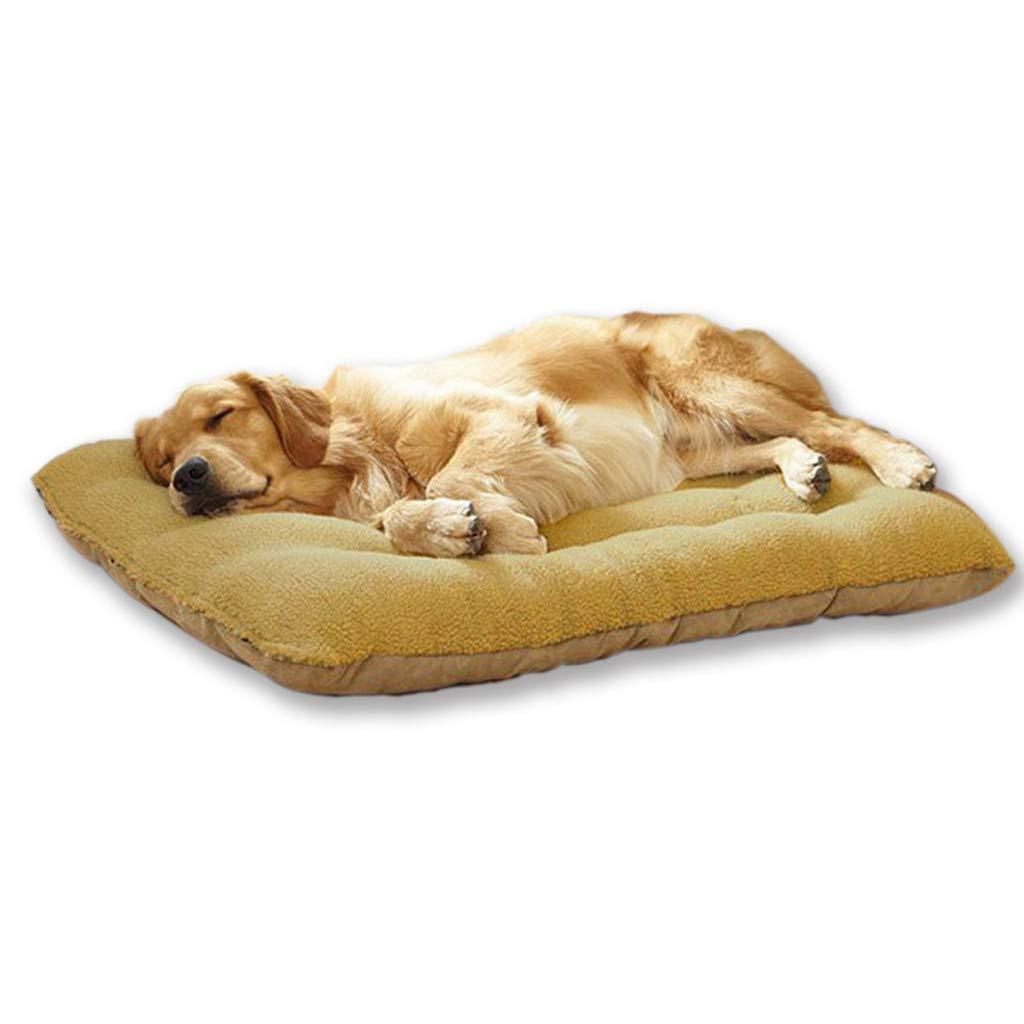 L HQSB Pet Bed Soft Fleece Dog Bed Pet Cat Dog Mat Pad Cushion Detachable and Washable Dog Warm Soft Cover (Size   L)