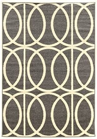 Hawthorne Collections 8 x 10 2 Rug in Gray and Ivory