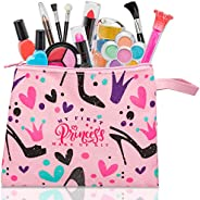My First Princess Make Up Kit - 12 Pc Kids Makeup Set - Washable Pretend Makeup For Girls - These Makeup Toys
