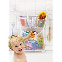 Tub Cubby Bath Toy Organizer - XL Baby Bath Toys Bin with 3 Extra Pockets for...