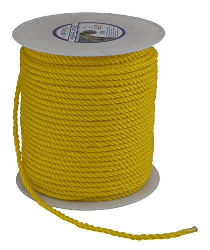 Sea Dog 301212600YW Twisted Polypropylene Rope Spool, 1/2