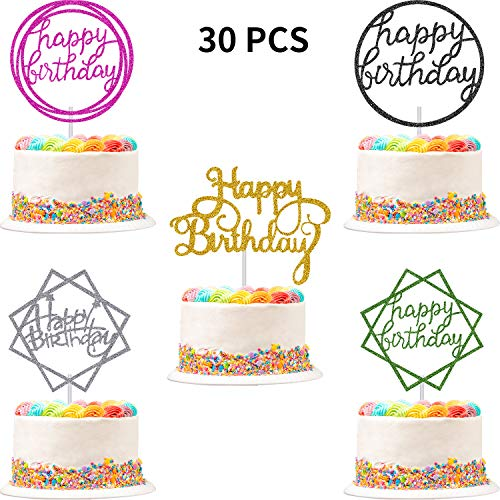 Boao Glitter Birthday Colorful Decorations product image