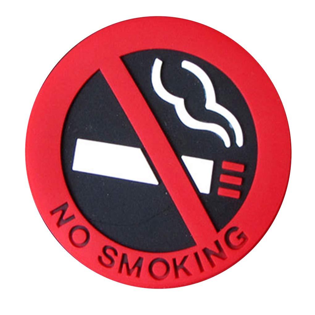Four Self Adhesive No Smoking Cigarette Logo Car Sticker Station Vehicle Warning Sign PVC Decal
