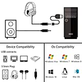 USB Audio Adapter PELAT USB External Sound Card USB to 3.5mm Jack Audio Adapter with 3.5mm Headphone and Microphone Jack for Windows, Mac, Linux, PC, Laptops, PS4