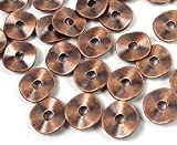 ShopForAllYou Design Making 50 Antique Copper Pewter Washers Spacer Wavy Beads 9mm