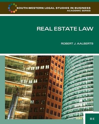 Real Estate Law (South-Western Legal Studies in Business...