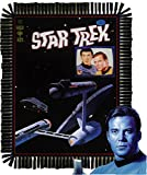 Star Trek The Original Series Enterprise, Captain Kirk, and Spock No Sew Fleece Throw Kit