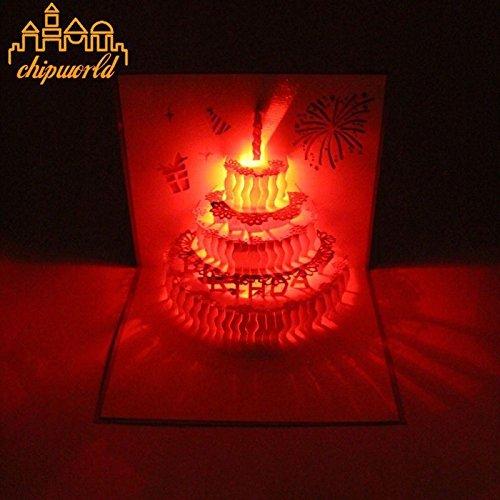 Abundance Postcard (NPLE--1PC 3D Pop Up Music Greeting Card Paper Birthday Handmade Postcards Bless Gifts (Candle Cake Card))