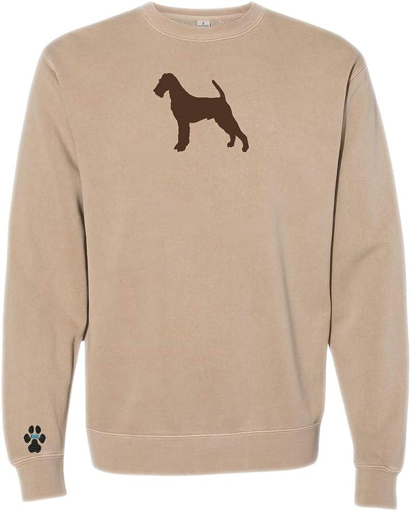 Heavyweight Pigment-Dyed Sweatshirt with/Irish Terrier Silhouette