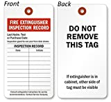 Fire Extinguisher Inspection Tag, Colored 13pt Cardstock, 100 Tags / Pack, 3'' x 5.75''
