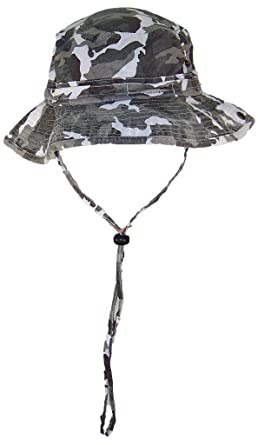 0906a6aa488 Image Unavailable. Image not available for. Colour  Solid Wing Floppy Bucket  Summer Hat W Snap Up Sides