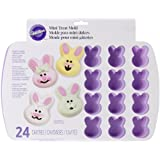 Wilton 2105-0434 Bunny Silicone Treat Mold, 24 Cavities- Discontinued By Manufacturer