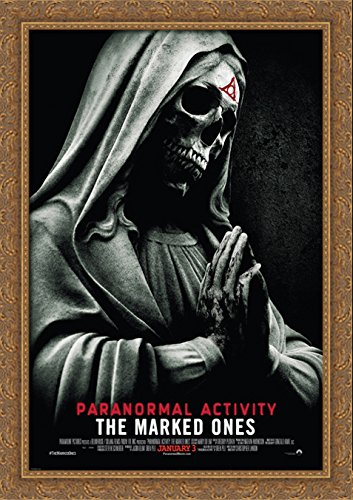 Paranormal Activity The Marked Ones 28x40 Large Gold Ornate Wood Framed Canvas Movie Poster Art by ArtDirect