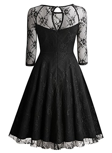 Vsecrety Cocktail Dress Women's Sleeve Lace Dresses for Special Occasions M