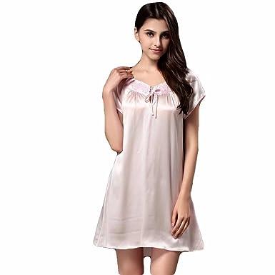 e1cc01ea413 Onlygiftsu Women s 100% Pure Luxury Mulberry Silk Sexy Night-Robe Summer  New Dress Sleepwear