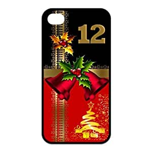 Merry Christmas Silicon iPhone 4/4S Case, Best Durable Christmas Gift iPhone 4/4S Case