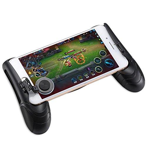 Price comparison product image OVERMAL Gaming Controller for PUBG Game Controller Mobile Joystick Gamepad Ergonomic Design Handle Holder (BLACK Gaming Handle)