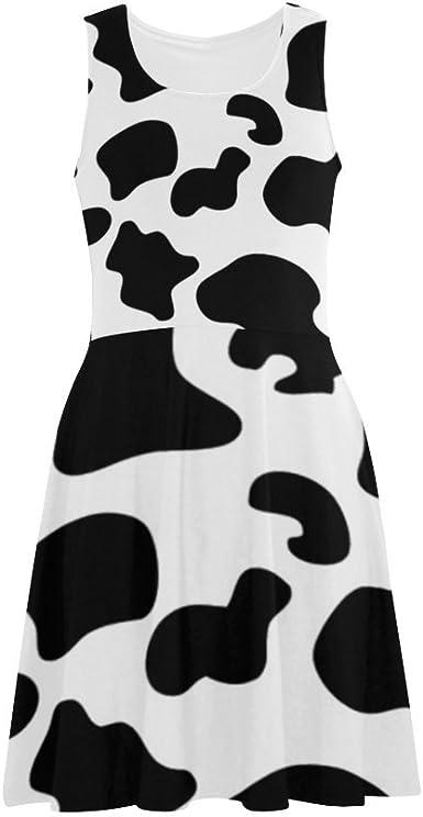 Womens Dress Hipster Llama Pattern Polyester Satin Finish Vest Dress